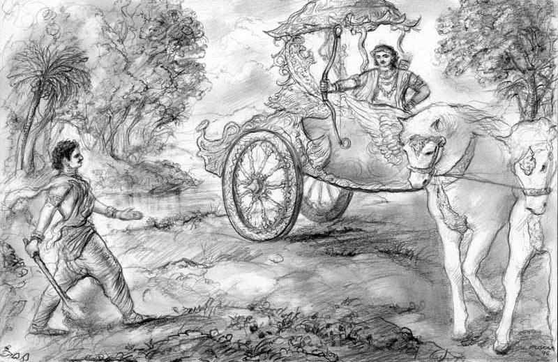 Mahabharata sketches-drawings